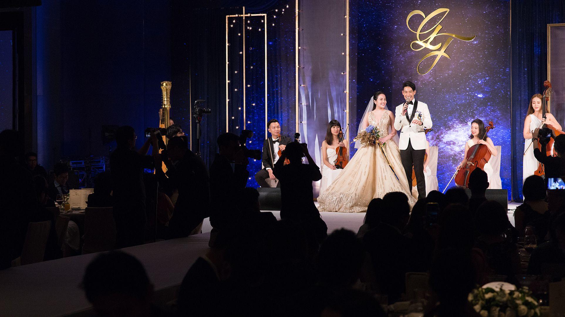 星光閃耀,藍鈞天、陳羽柔婚禮重現甜蜜求婚時刻