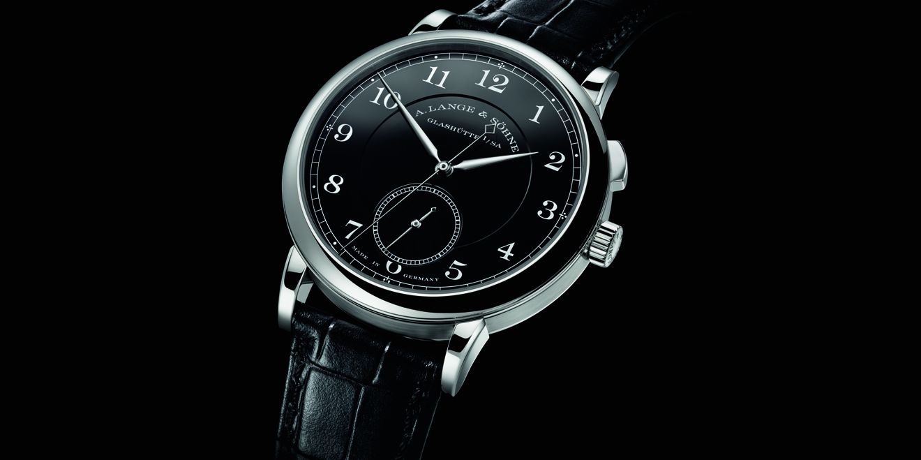 "1815 ""Homage to Walter Lange""黑色琺瑯錶盤精鋼腕錶 by A.Lange & Söhne。"