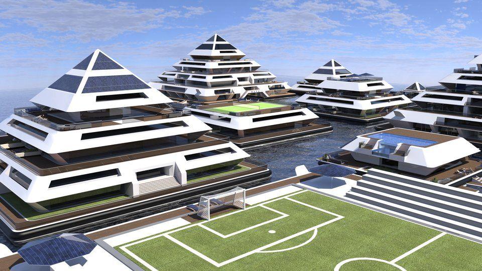 嶄新浮動金字塔城市成為未來建築新趨勢