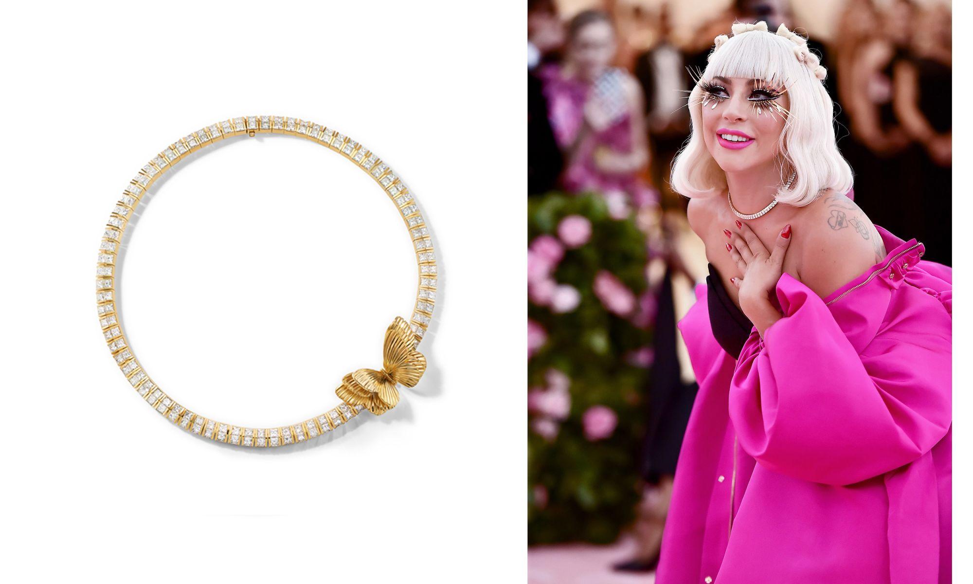 Lady Gaga配戴Tiffany珠寶。(圖片提供/Tiffany)