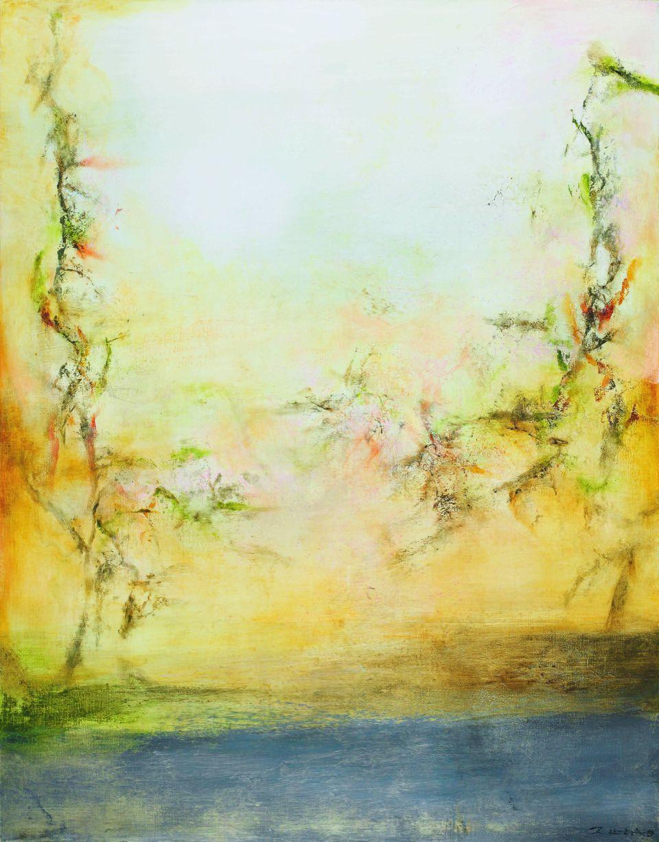 趙無極 《25.5.2001》 2001 油彩 畫布 146 x 114 cm