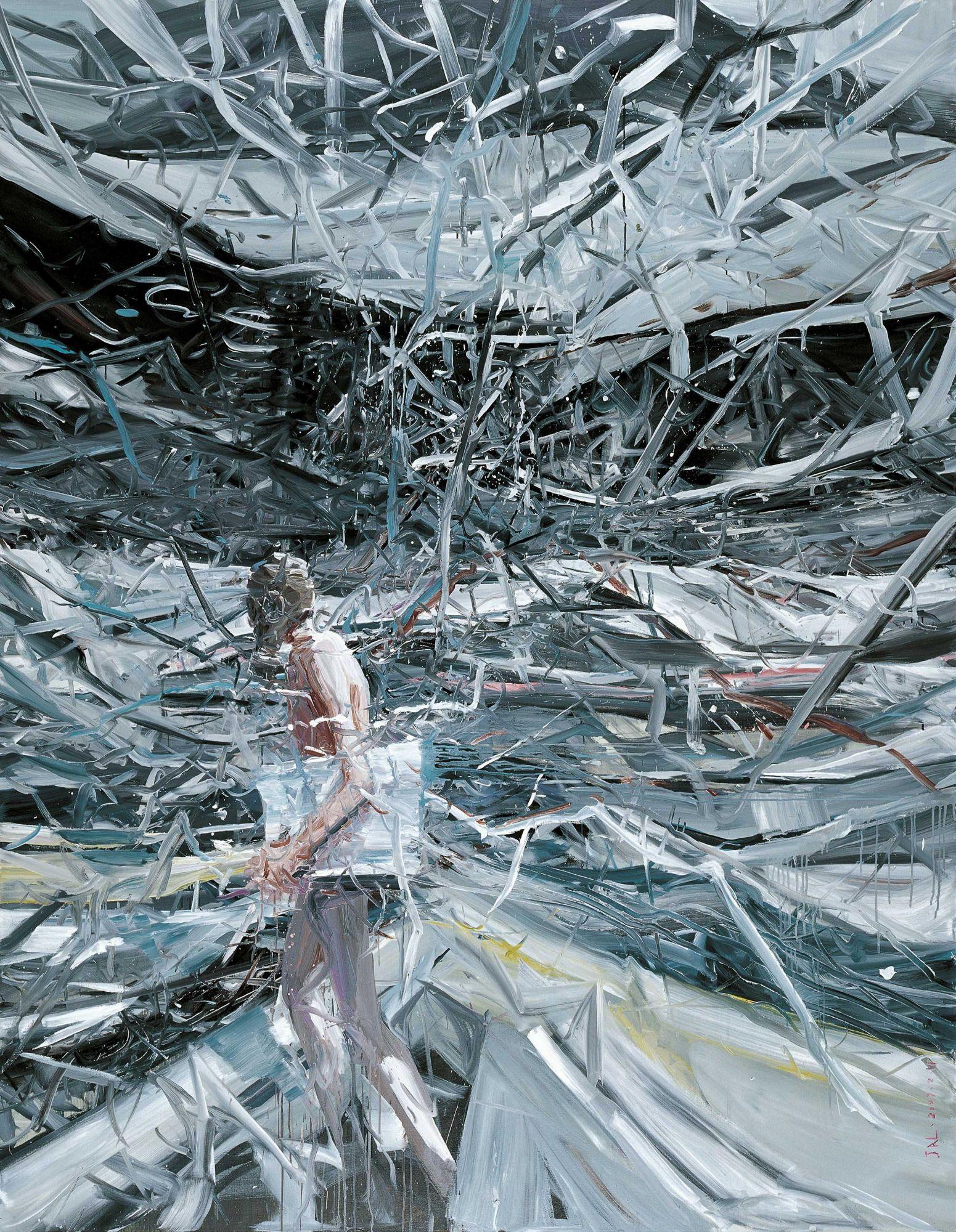 賈藹力(中國,1979 年生) 《瘋景》 油彩 畫布 267 x 200 公分(105 1/8 x 78 3/4 吋) 2007 年作