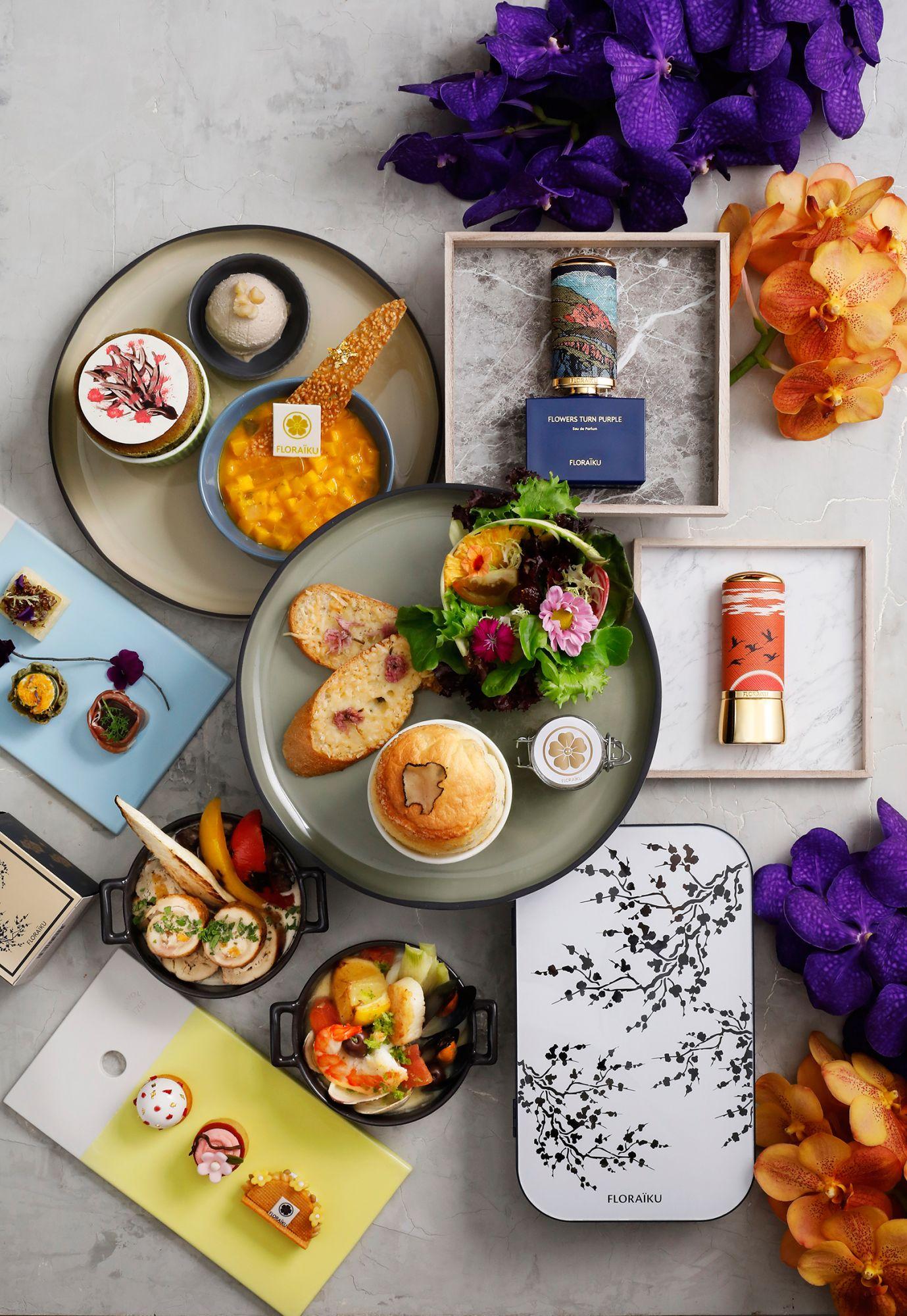 極致滿足的五感饗宴!法國頂級香氛Floraïku與台北君悅茶苑聯名午茶登場