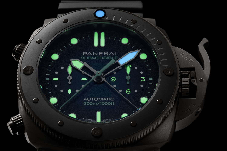 Submersible專業潛水計時腕錶,Guillaume Néry版。(圖片提供/Panerai)