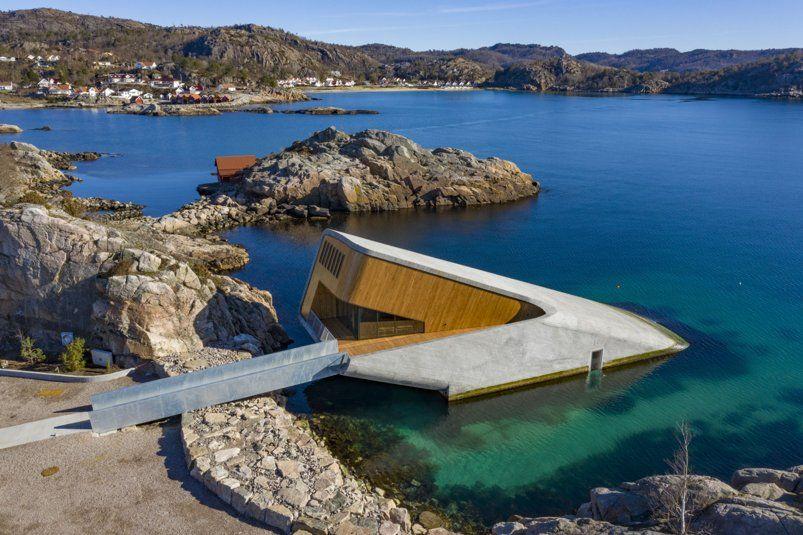 挪威海底餐廳「Under」奇蹟誕生,享受美食之際盡覽海底生態