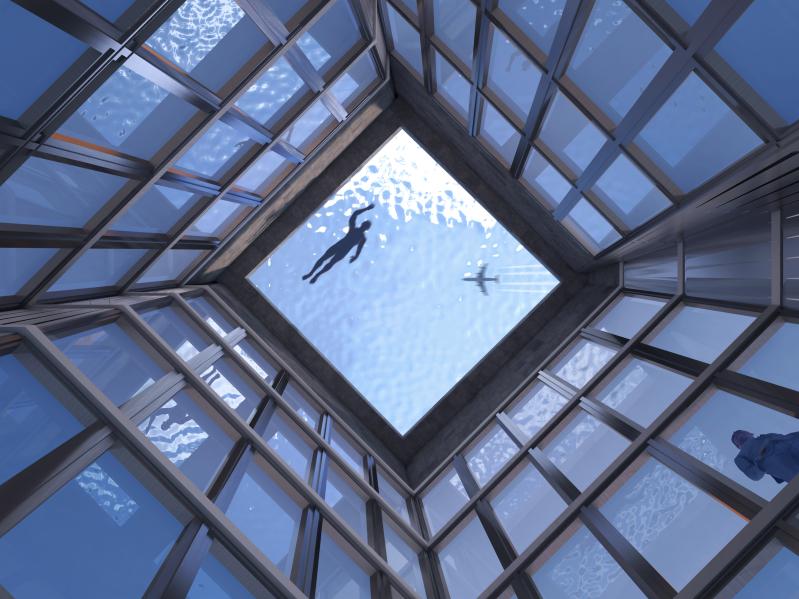 全球首座360度全透明無邊際泳池!離地55層樓高飽覽倫敦絕美景色
