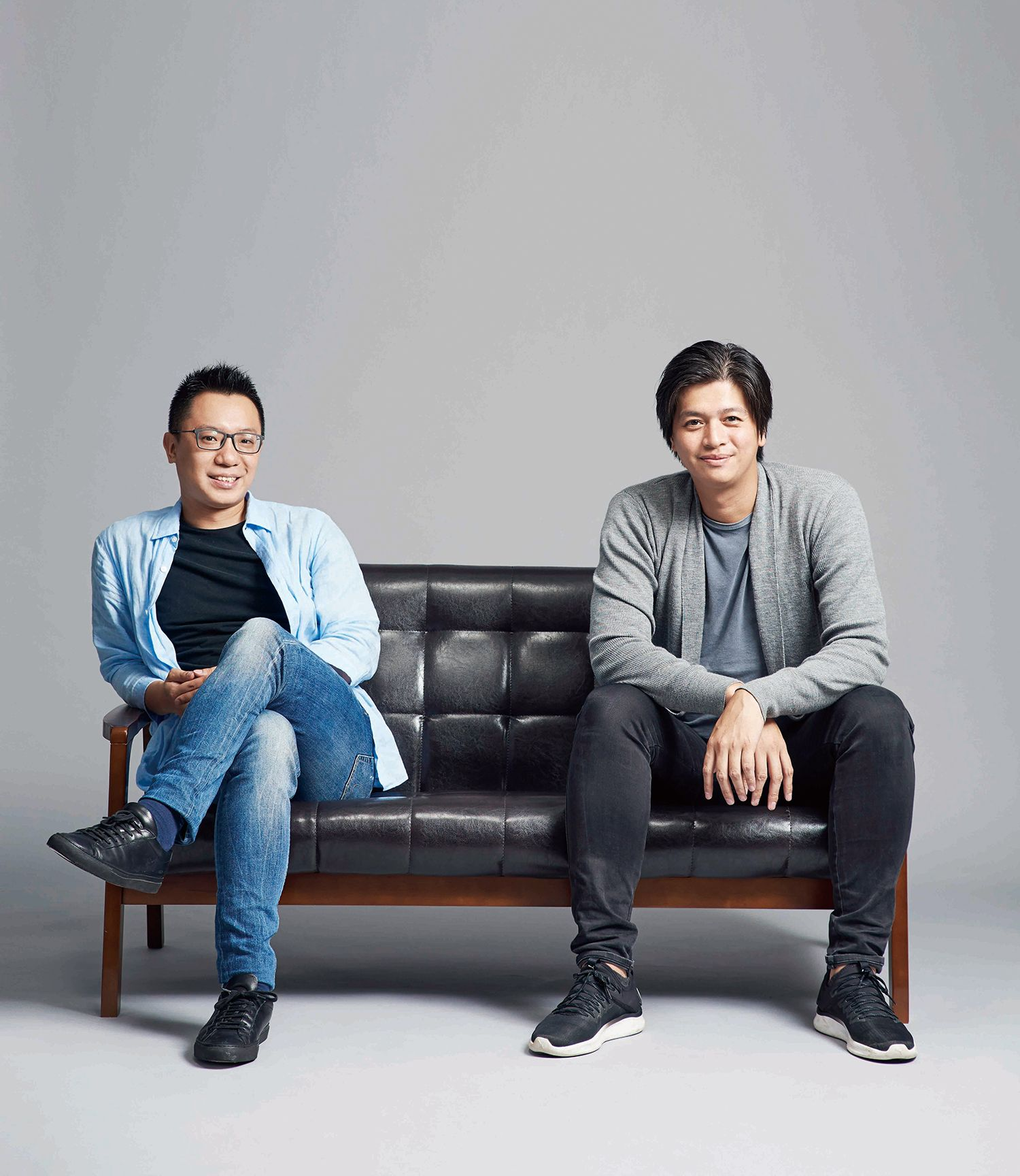 Plan b共同創辦人游適任、茶籽堂創辦人趙文豪。(攝影/SHAO JOU HUANG)