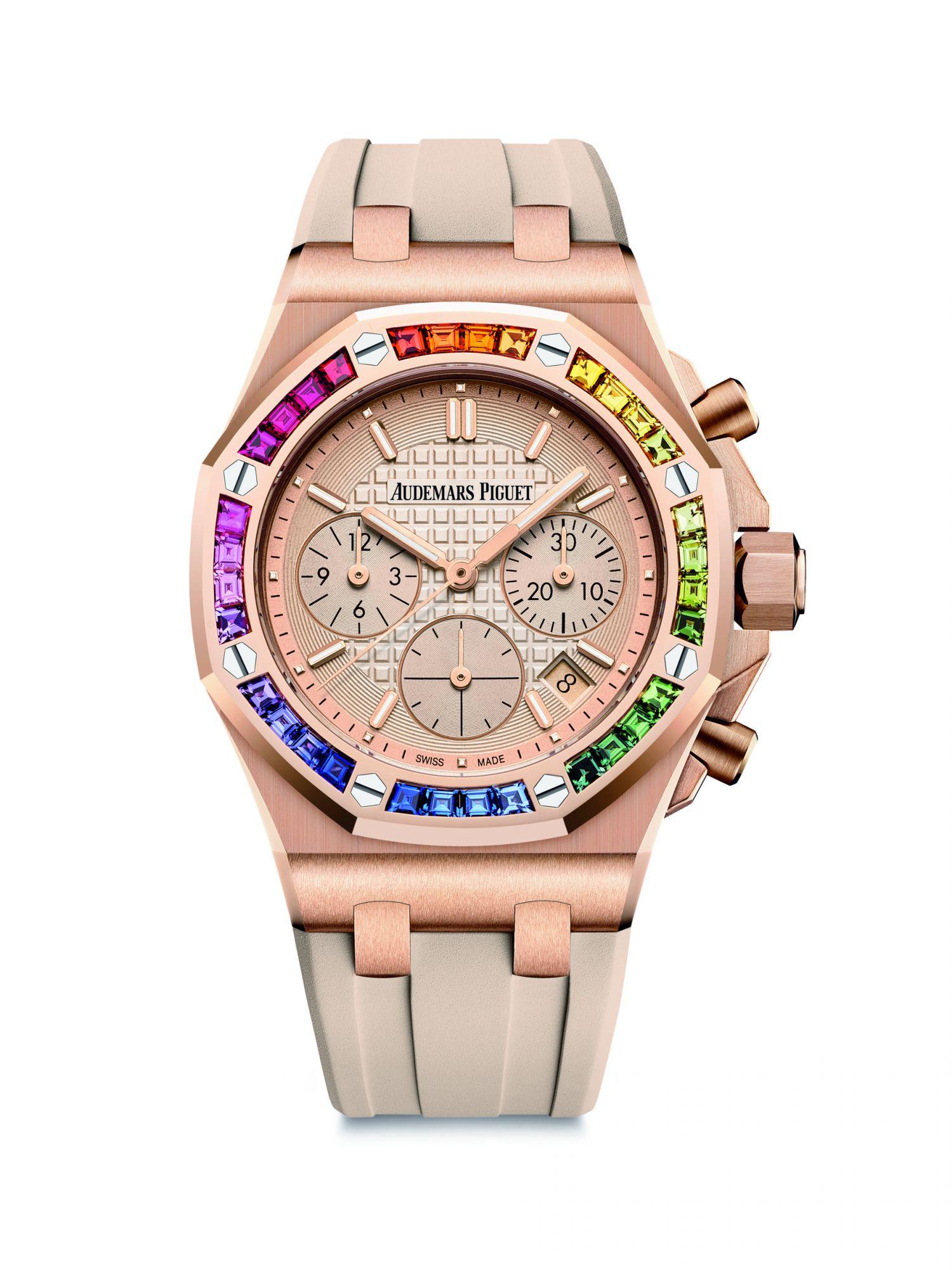 皇家橡樹離岸型系列自動上鍊計時碼錶by Audemars Piguet。