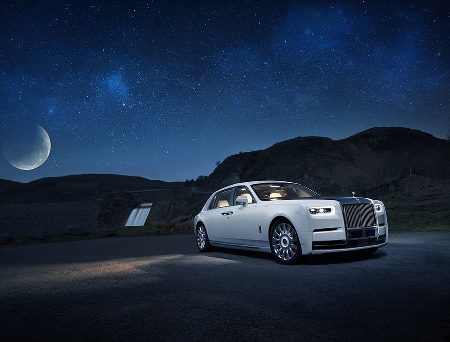 超狂!Rolls-Royce把百萬年前隕石鑲在車內,Phantom Tranquillity典藏版車頂映射星空圖