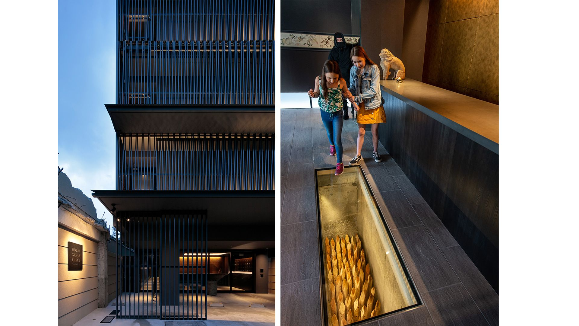 京都黑暗忍者酒店!門口設置「落穴」當陷阱,走道隨時飄出黑影