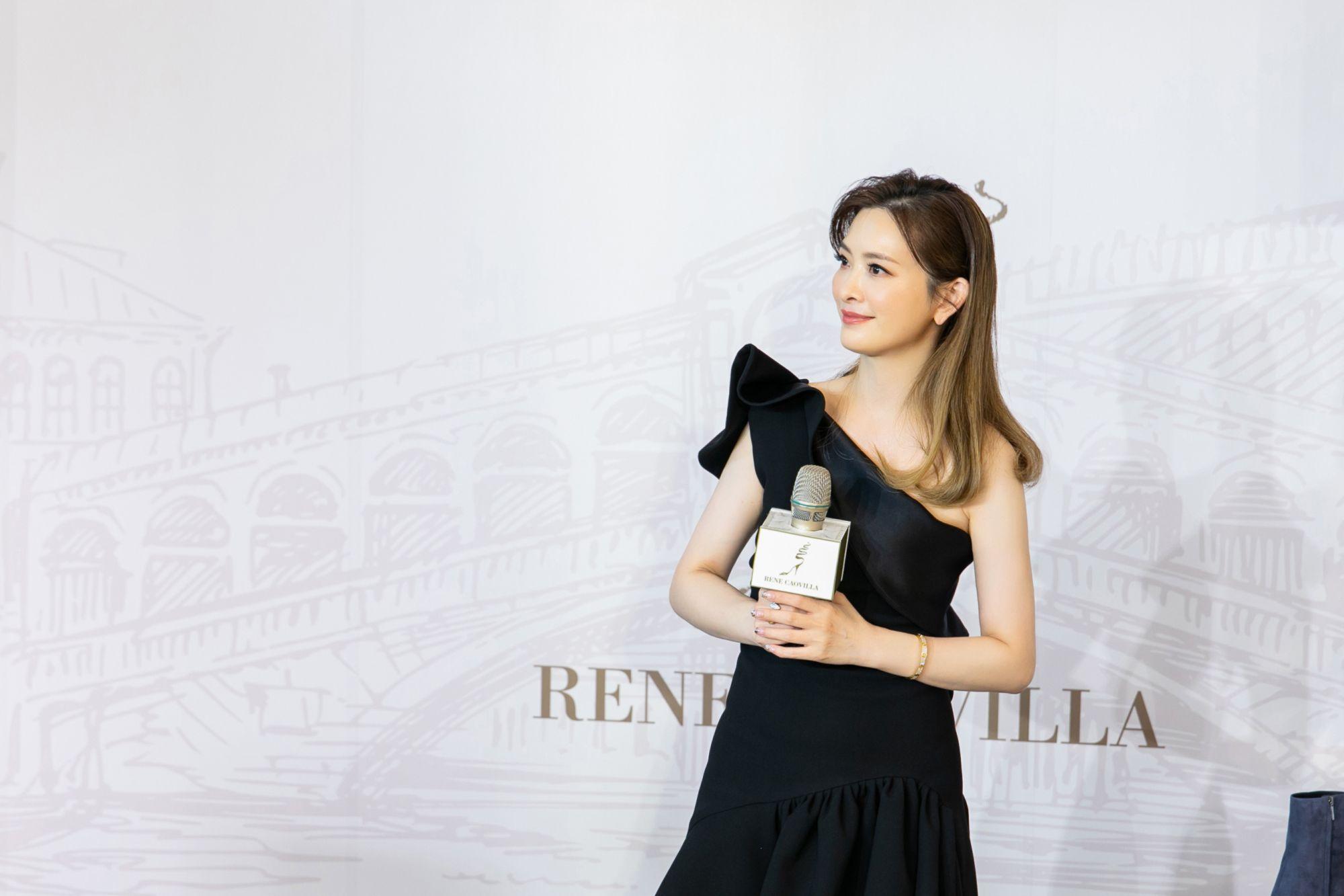 為足下之美而生  RENE CAOVILLA 秋冬款式亮眼登場,一日店長劉真展示新款鞋履