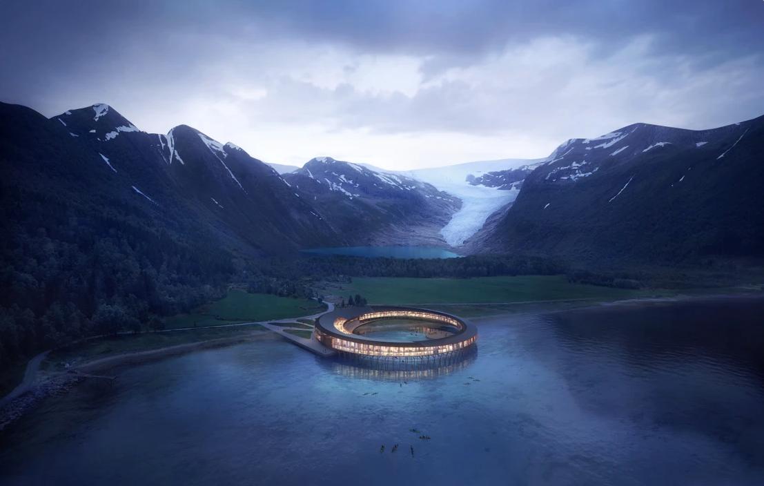 北極圈冰川下絕美正能量飯店!可生產超過日常所需的再生能源