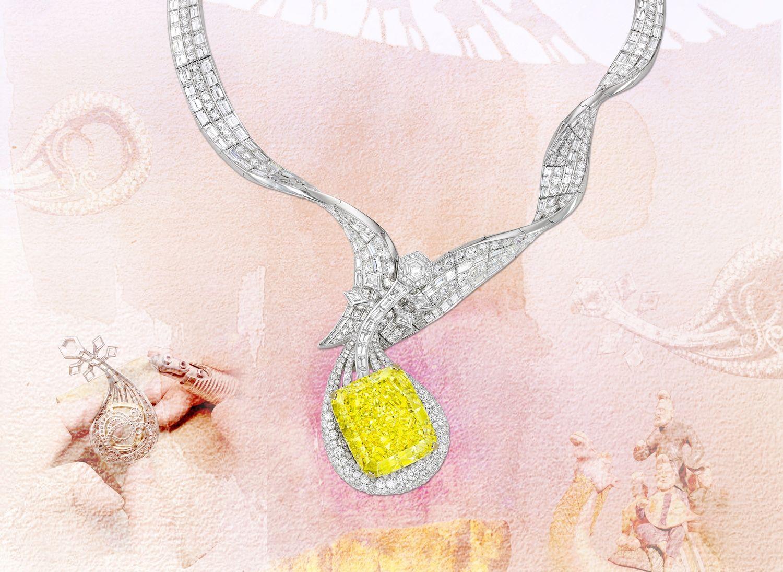蘇富比秋拍4,535萬港幣落槌!Anna Hu全新絲路音樂系列「敦煌琵琶黃鑽項鍊」,再現文化蓬勃能量!