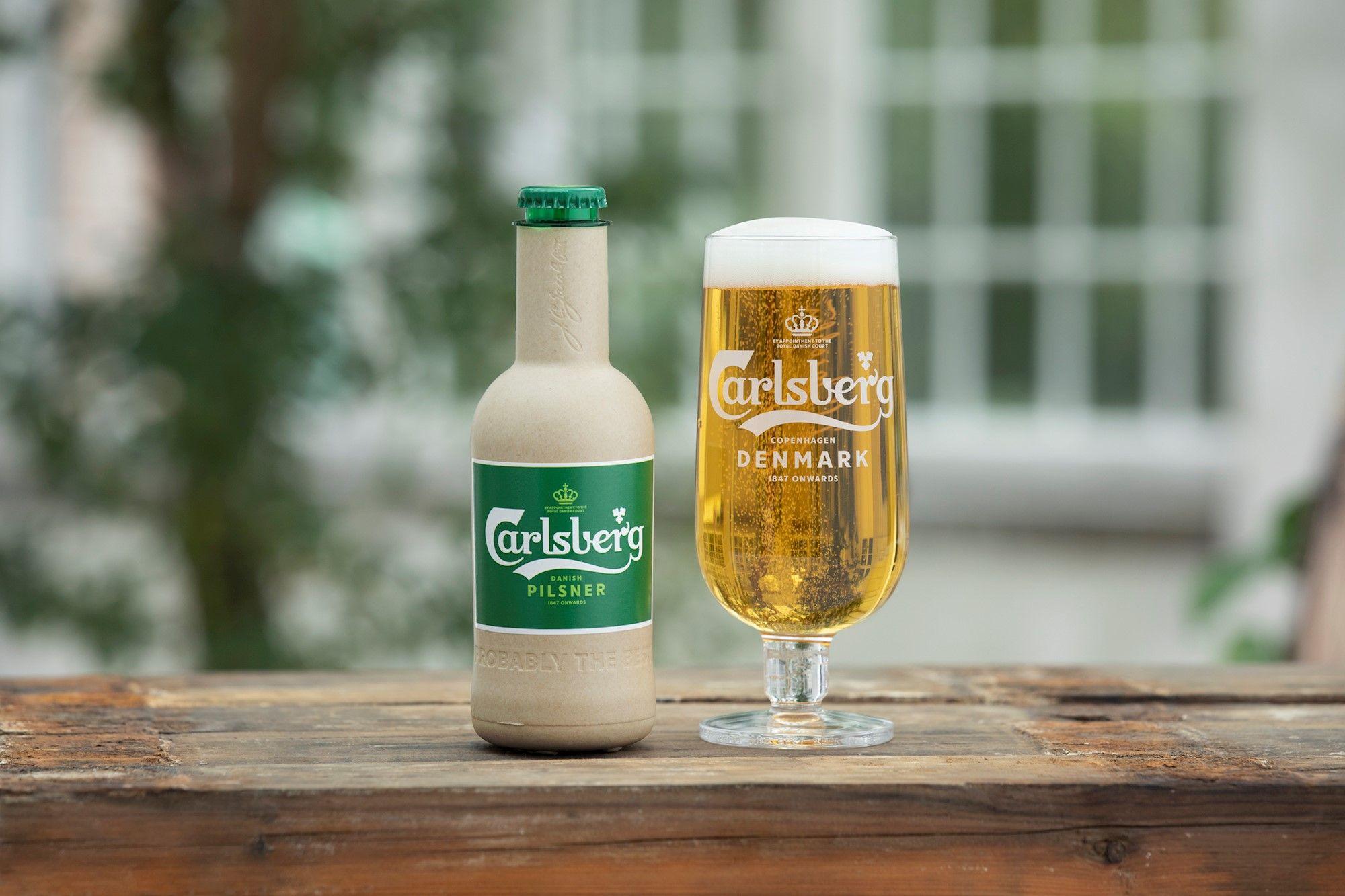 啤酒可以用紙裝!?嘉士伯成功研發紙製啤酒瓶,向玻璃瓶說掰掰!