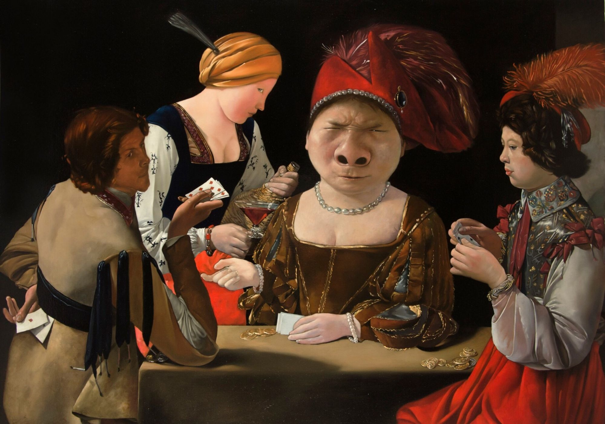 盧昉作品-被詐騙的大鼻子。(圖片由多納藝術提供)