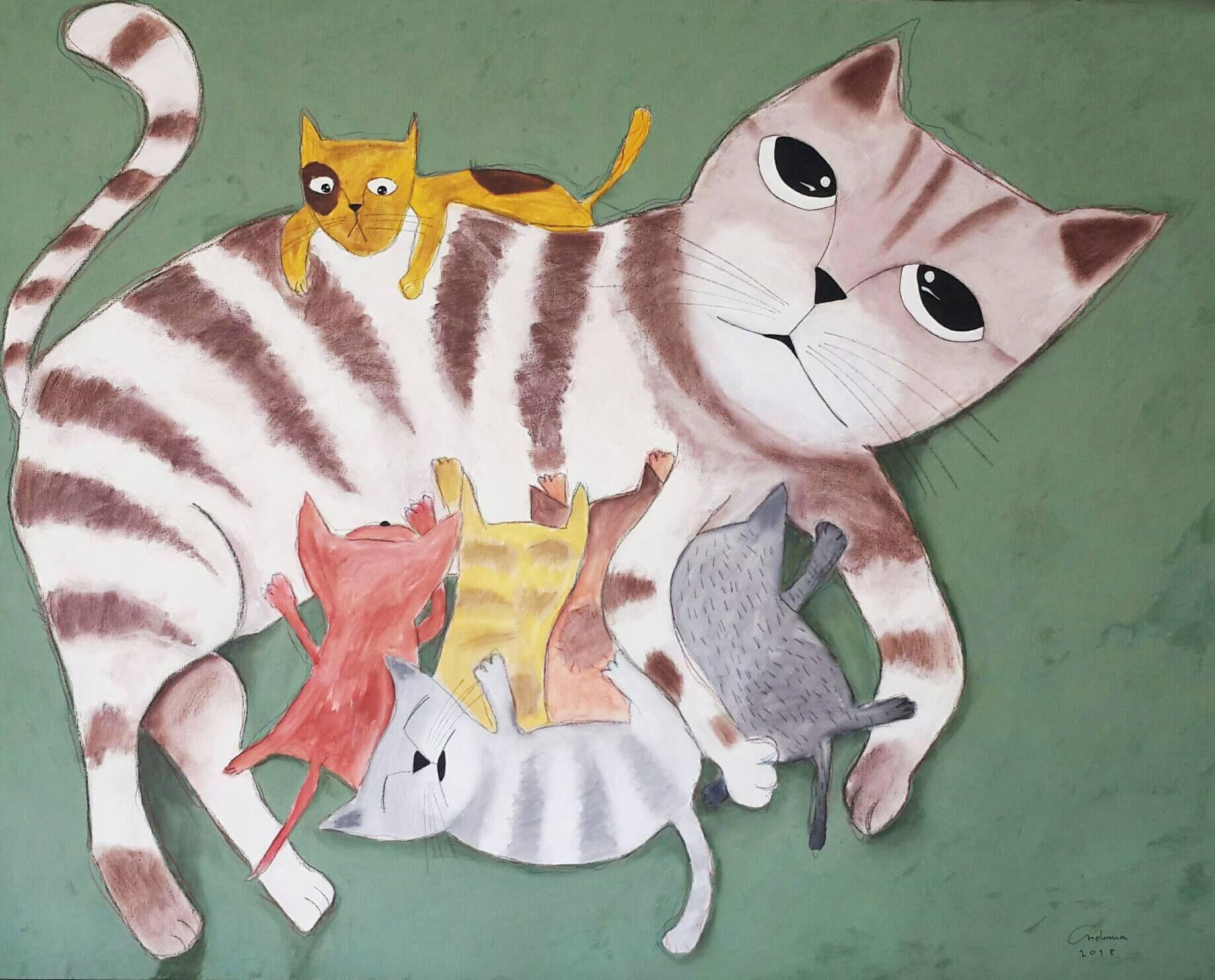 安恰娜‧恰麗亞琵朋的畫作。(圖片由多納藝術提供)