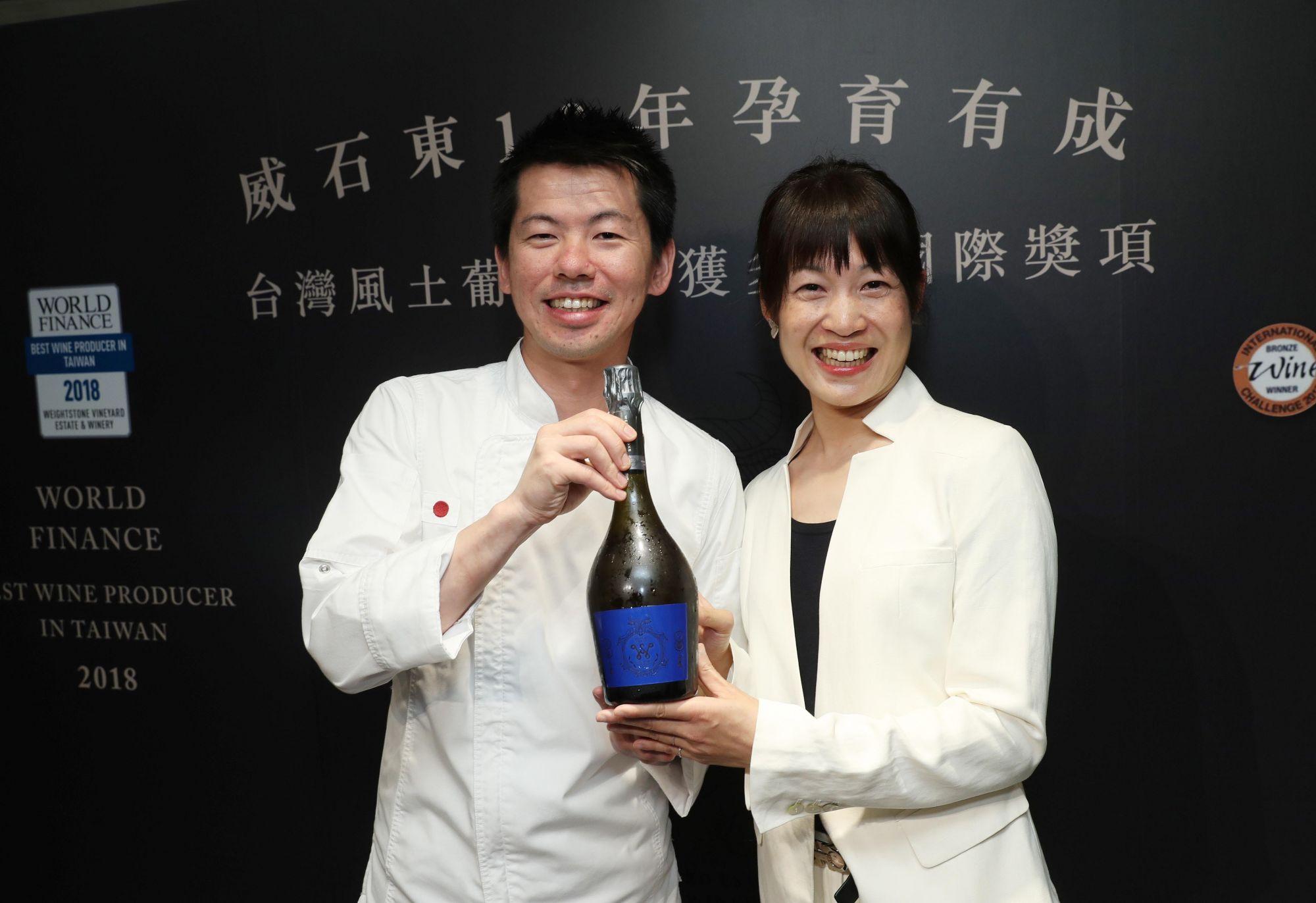 米其林二星餐廳祥雲龍吟主廚稗田良平與威石東酒莊總執行楊仁亞。