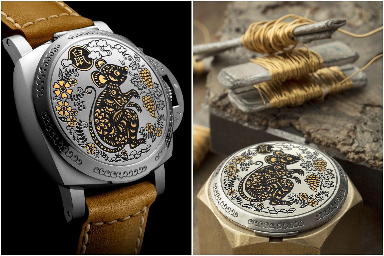 金線嵌花、限量88,Panerai 沛納海鼠年限定腕錶讓你喜氣迎瑞鼠