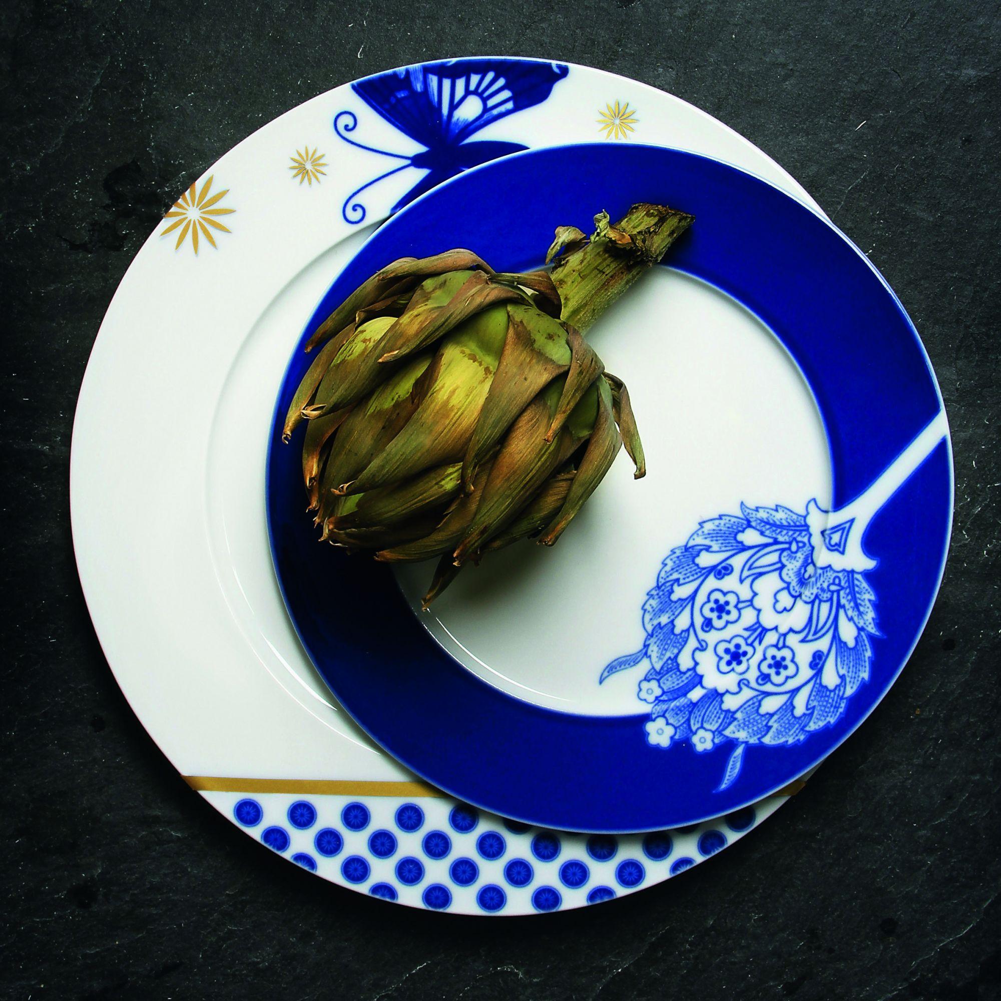 東風漸至大國崛起!德國百年瓷器FÜRSTENBERG,以鈷藍色釉打造中國風餐瓷