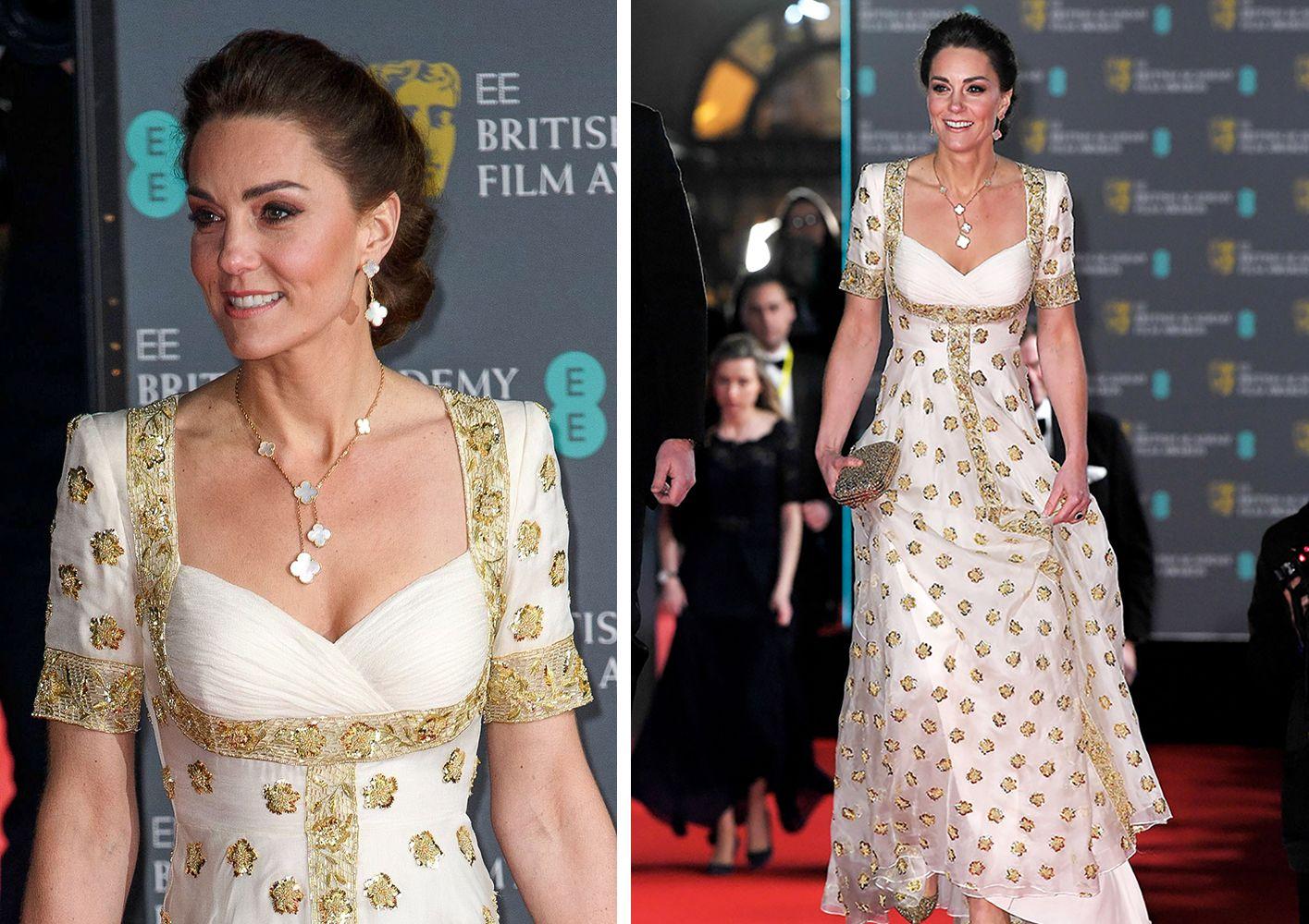 凱特王妃舊衣新穿巧搭Van Cleef & Arpels幸運珠寶,再次驚艷英國電影學院獎BAFTA紅毯!