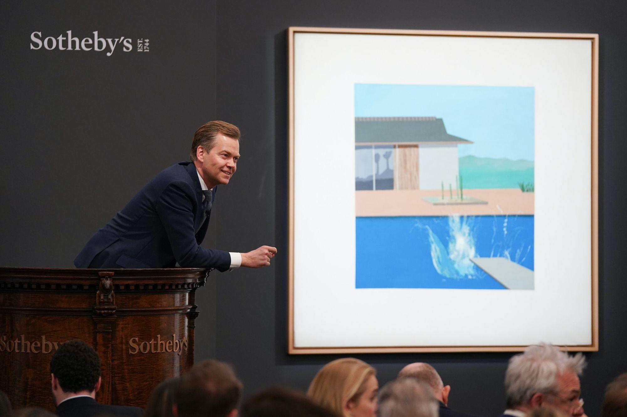 倫敦蘇富比當代藝術晚拍總成交額達9000多萬英鎊,David Hockney重要鉅作以天價成交