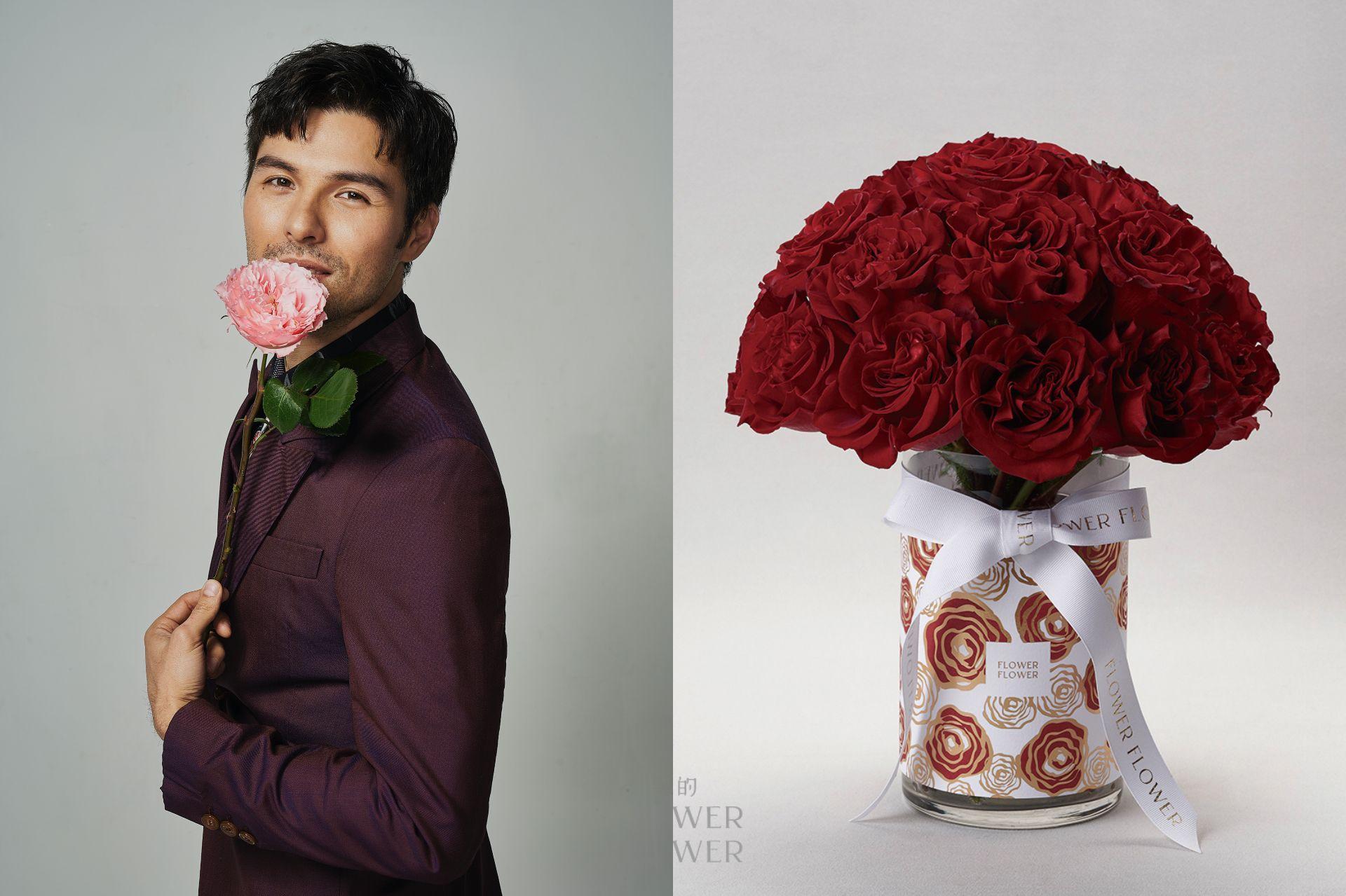鳳小岳的真心告白:「對於最愛的人,我願意送上全世界最珍貴的玫瑰花給她,在我們每一個特別的日子裡。」