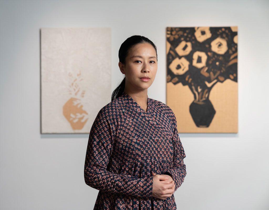 疫情時代的自我治癒,美女藝術家以畫布「納須彌」:「若說苦是每個人都會經歷到的,進一步就是去思考我們怎麼解決這個困擾。」