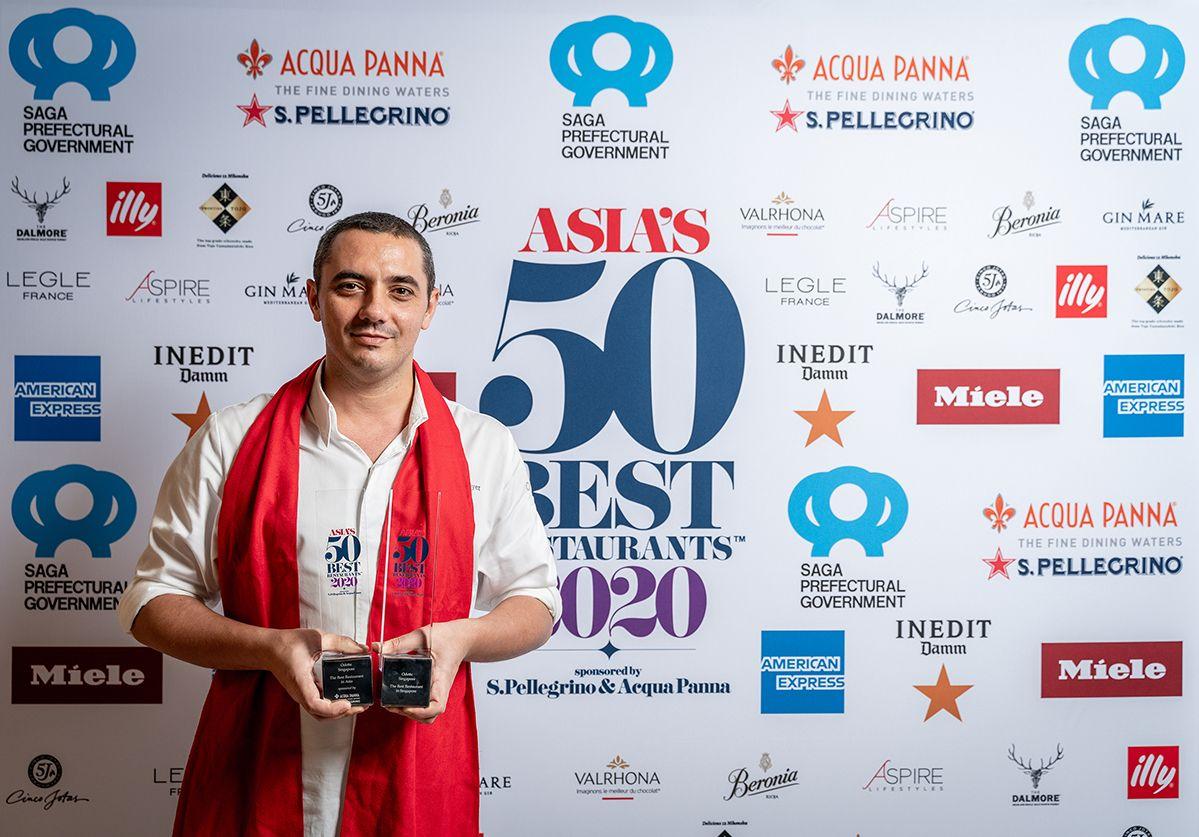 Odette - winner of The Best Restaurant in Asia and The Best Restaurant in Singapore 2020.