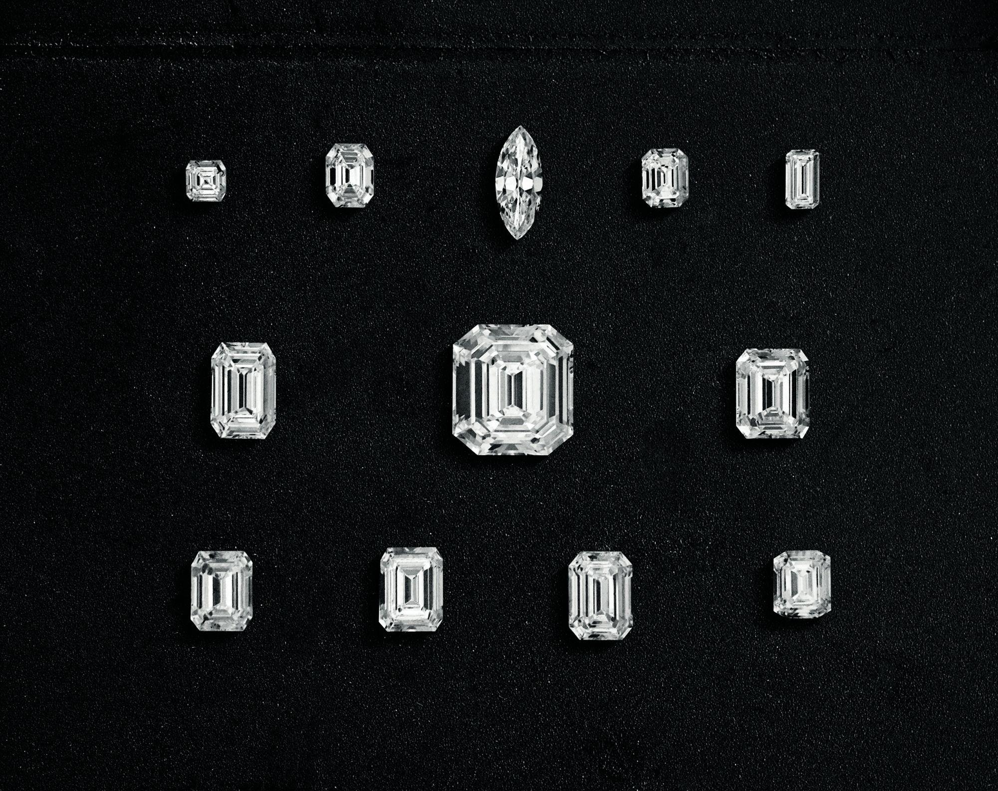 瓊格爾之鑽最後切割出12顆鑽石。(圖片提供/Harry Winston)