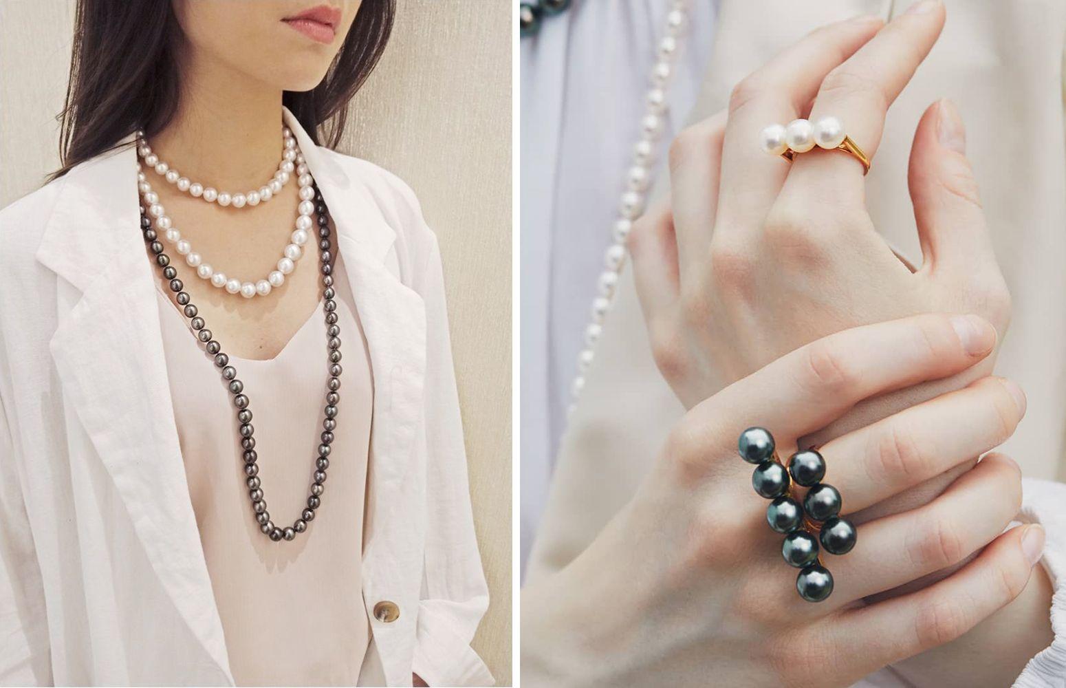 6月珍珠月這樣戴珍珠最時髦,南洋黑珍珠、粉色Akoya珠…用珍珠混搭出時髦帥氣感一點都不難