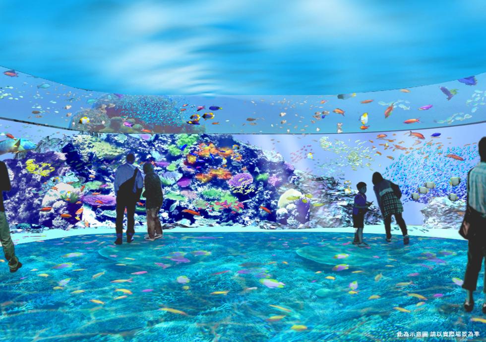 Xpark「珊瑚潛行」展區。