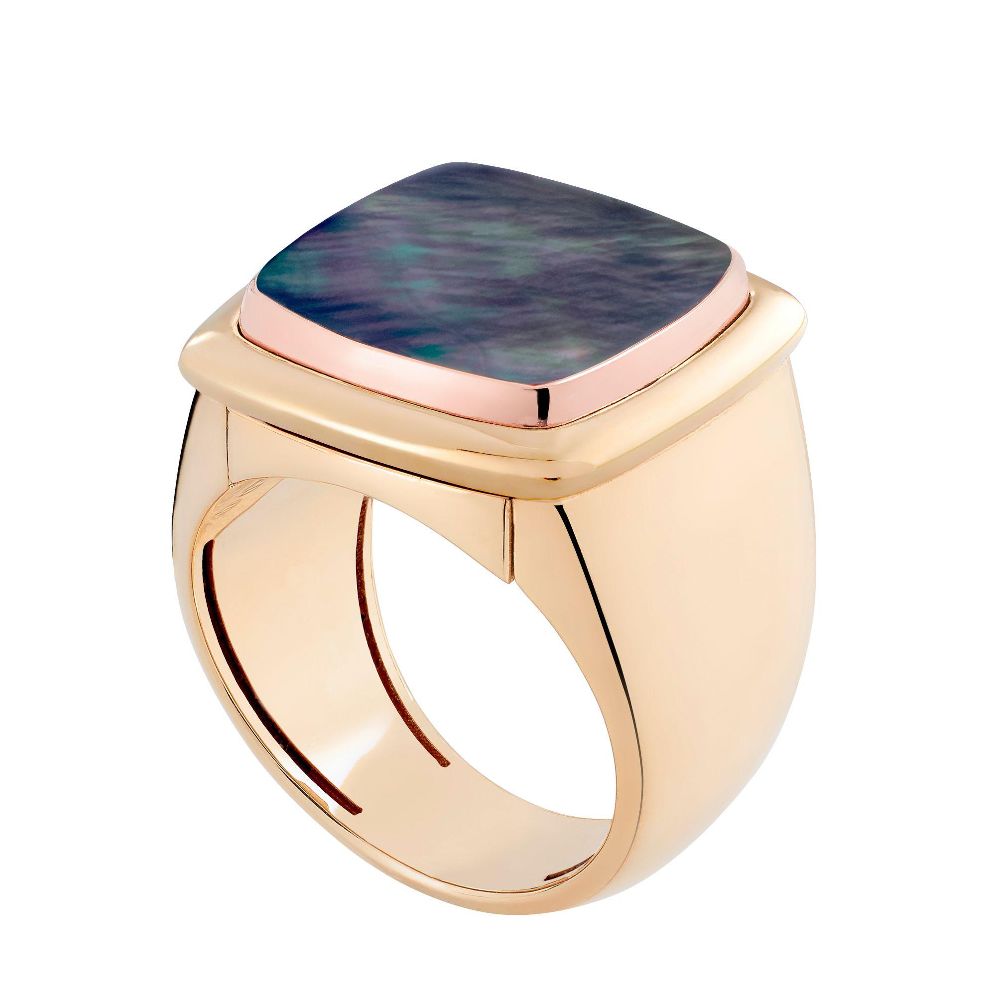 Pain de Sucre系列珍珠母貝可替換戒指。