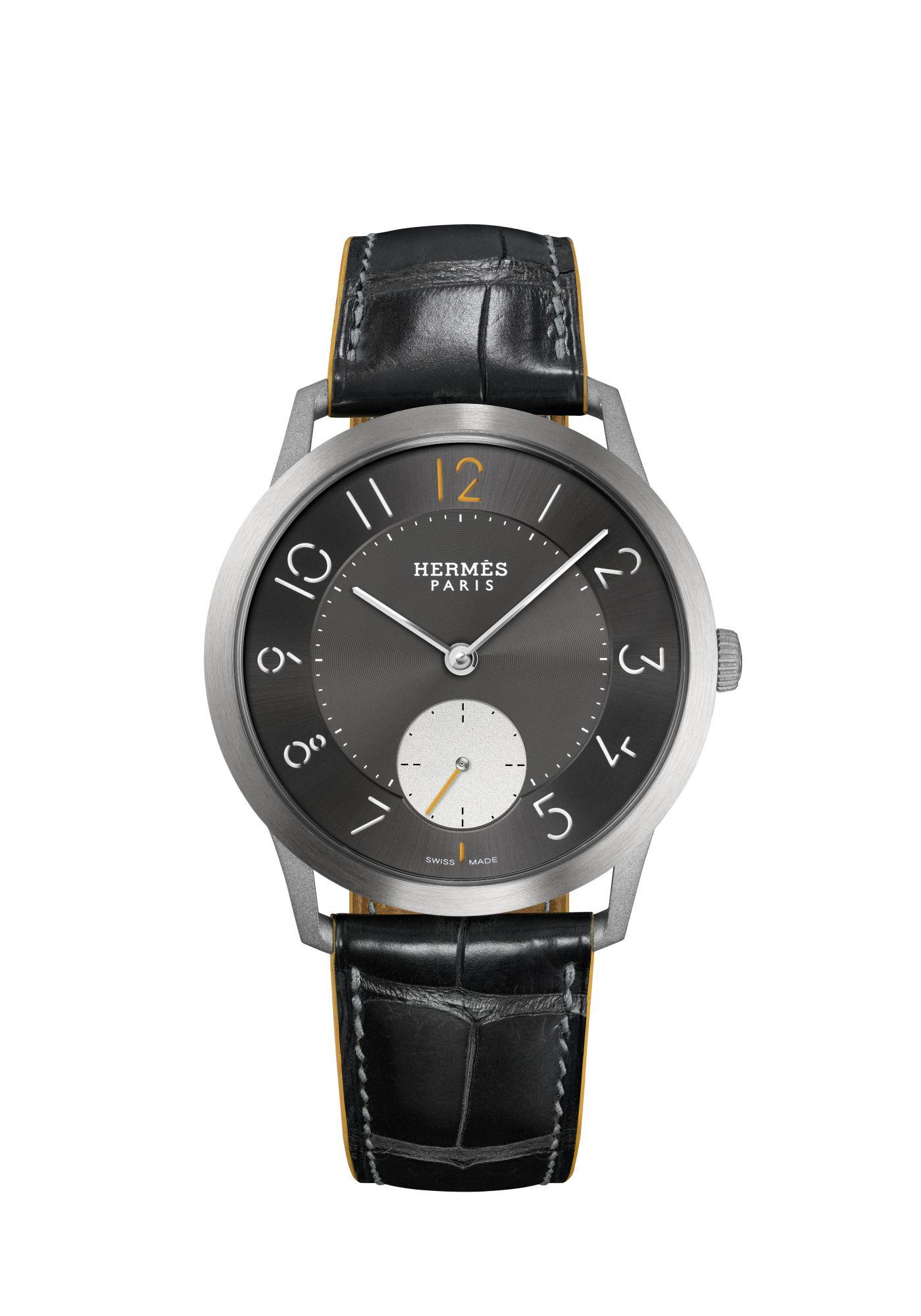 Slim d\'Hermès鈦金屬腕錶。