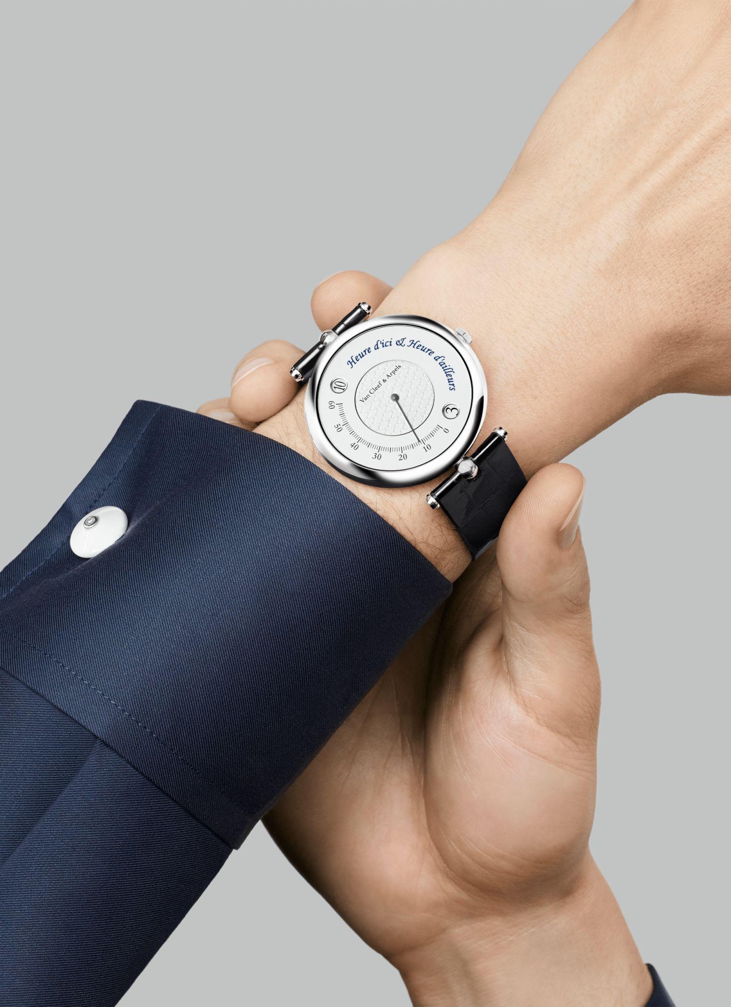 Van Cleef & Arpels Pierre Arpels Heure d\'Ici & Heure d\'Ailleurs腕錶。