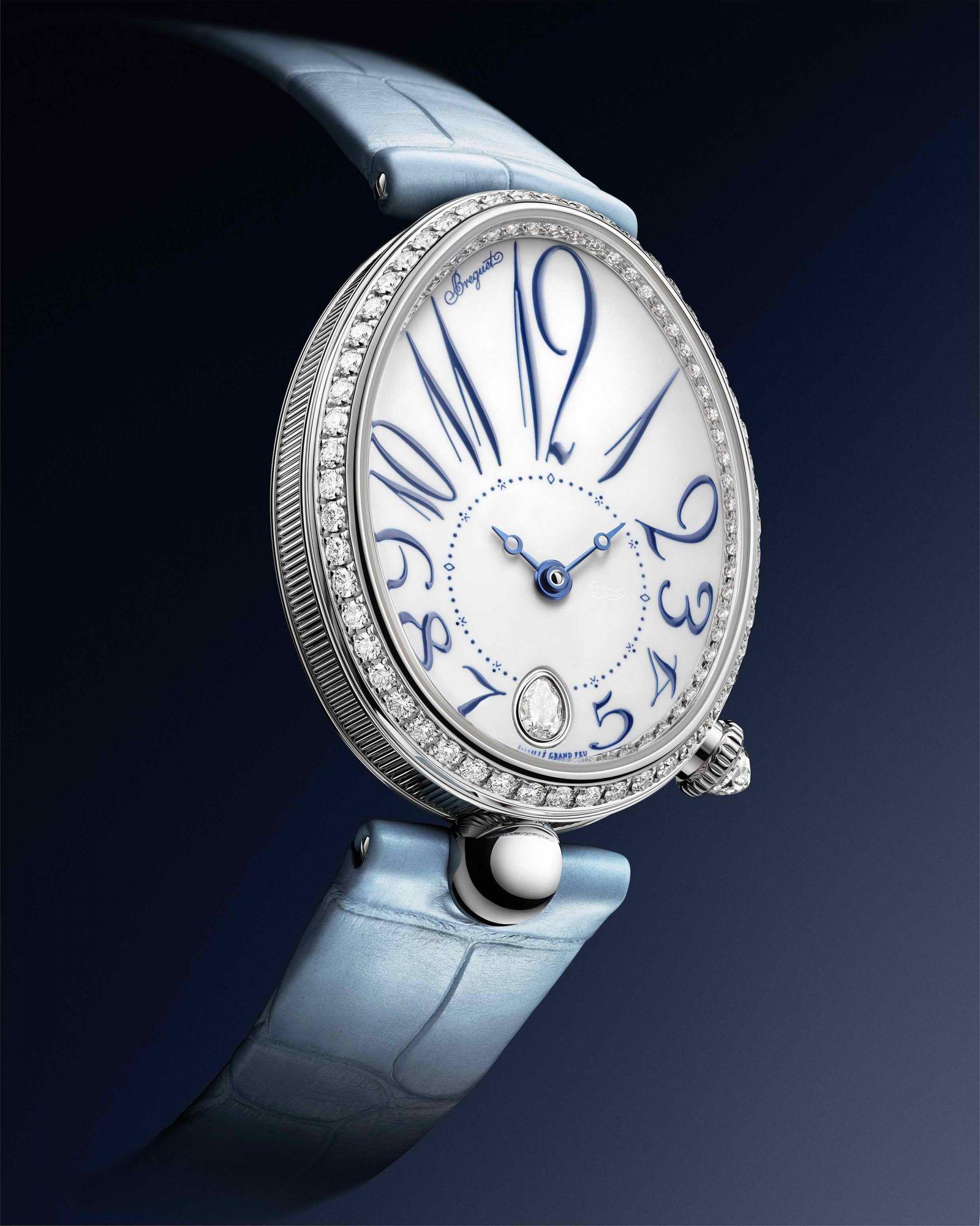 全新那不勒斯王后系列Reine de Naples 8918鑽錶by Breguet。