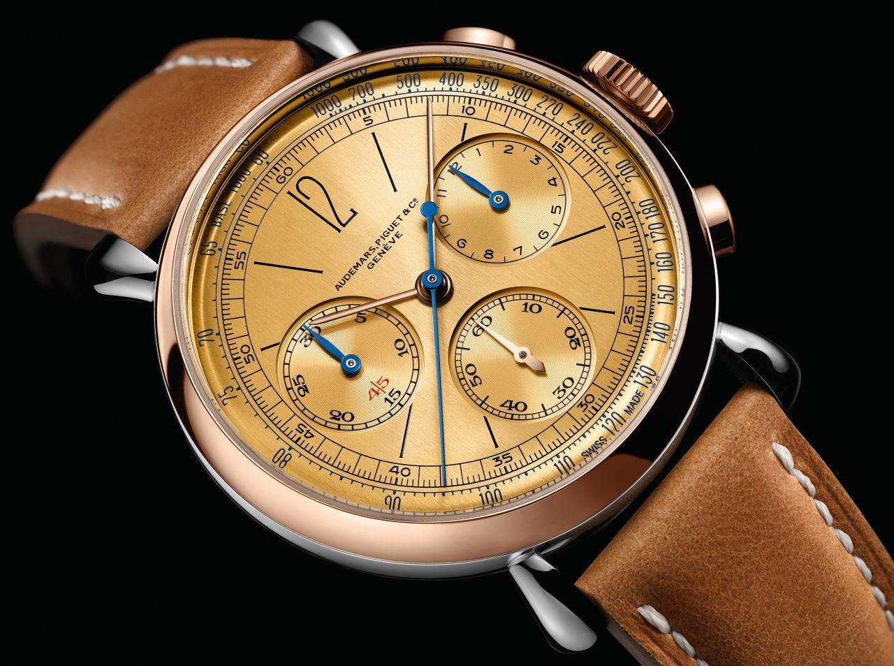 [Re]master01復刻版計時碼錶,承襲1943年原創計時碼錶的美學by Audemars Piguet。