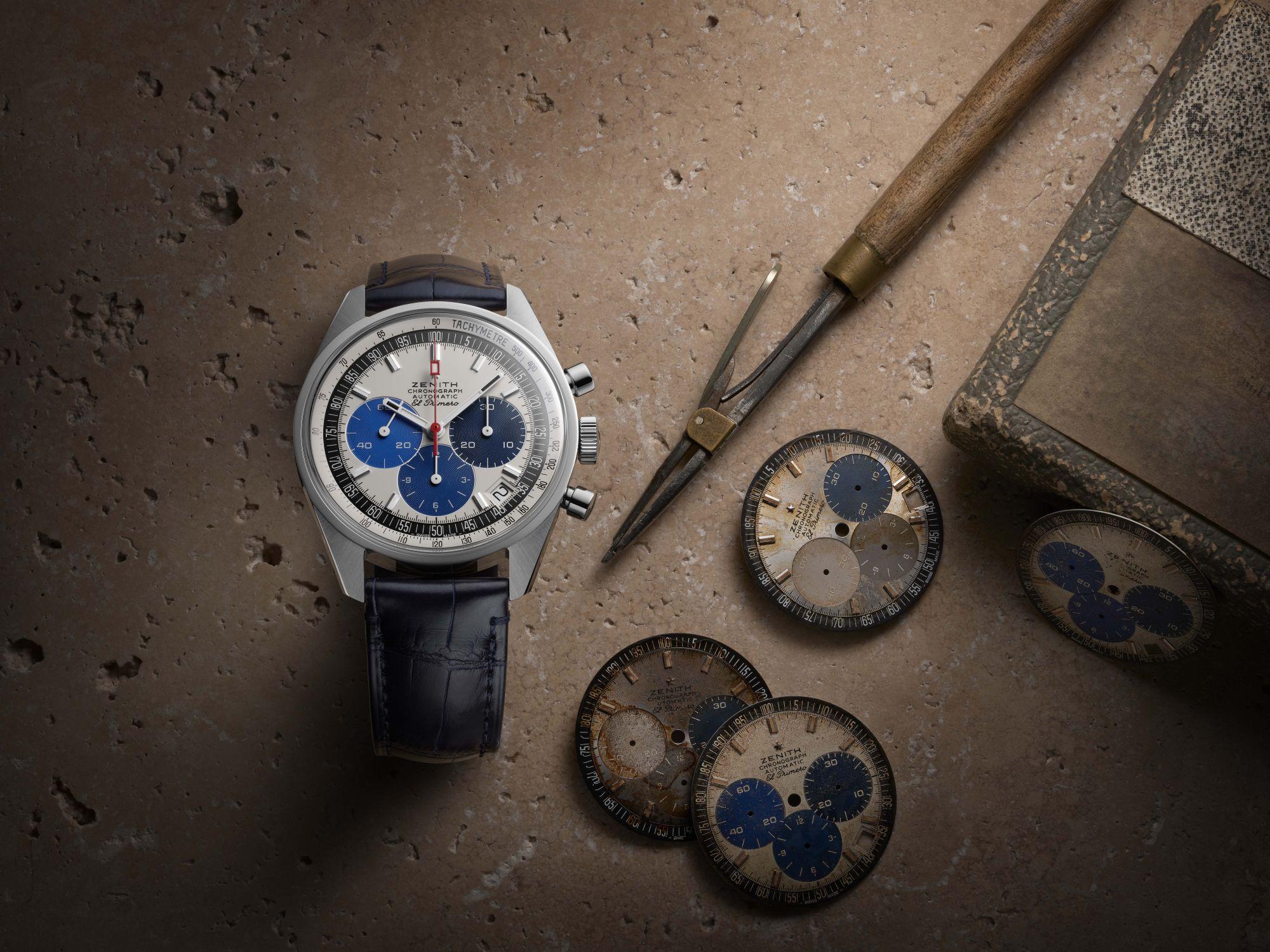 Chronomaster系列復刻版腕錶,有著與1969年發售的El Primero A386腕錶相同的DNA by Zenith。