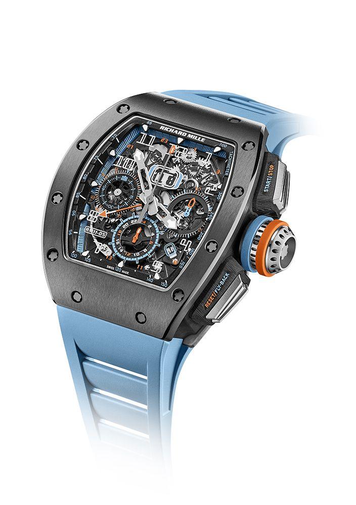 全新RM 11-05飛返計時GMT自動上鍊腕錶 by Richard Mille。