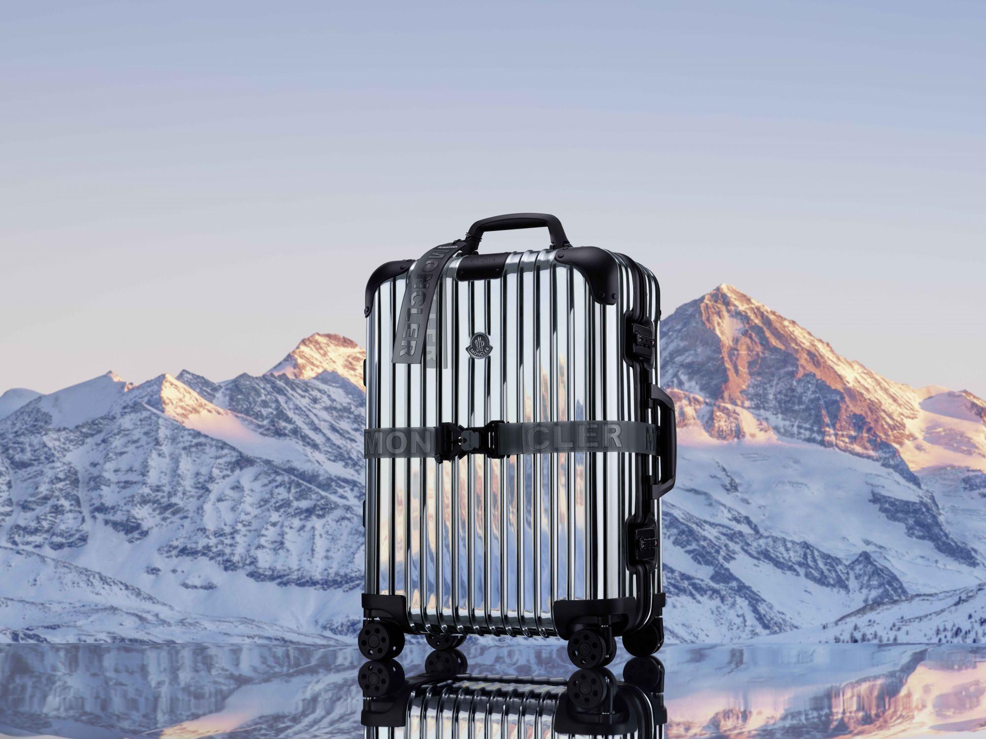 Moncler x Rimowa絕美聯名行李箱開賣! 宛如時髦羽絨衣的鏡面鋁合金行李箱
