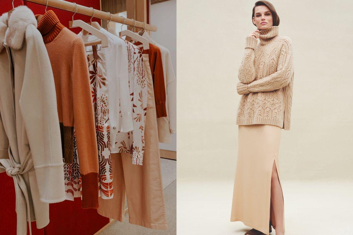 低調女子的冬日優雅穿搭。Loro Piana尼羅河綠、核桃色套裝,完美示範2020秋冬質感搭配法