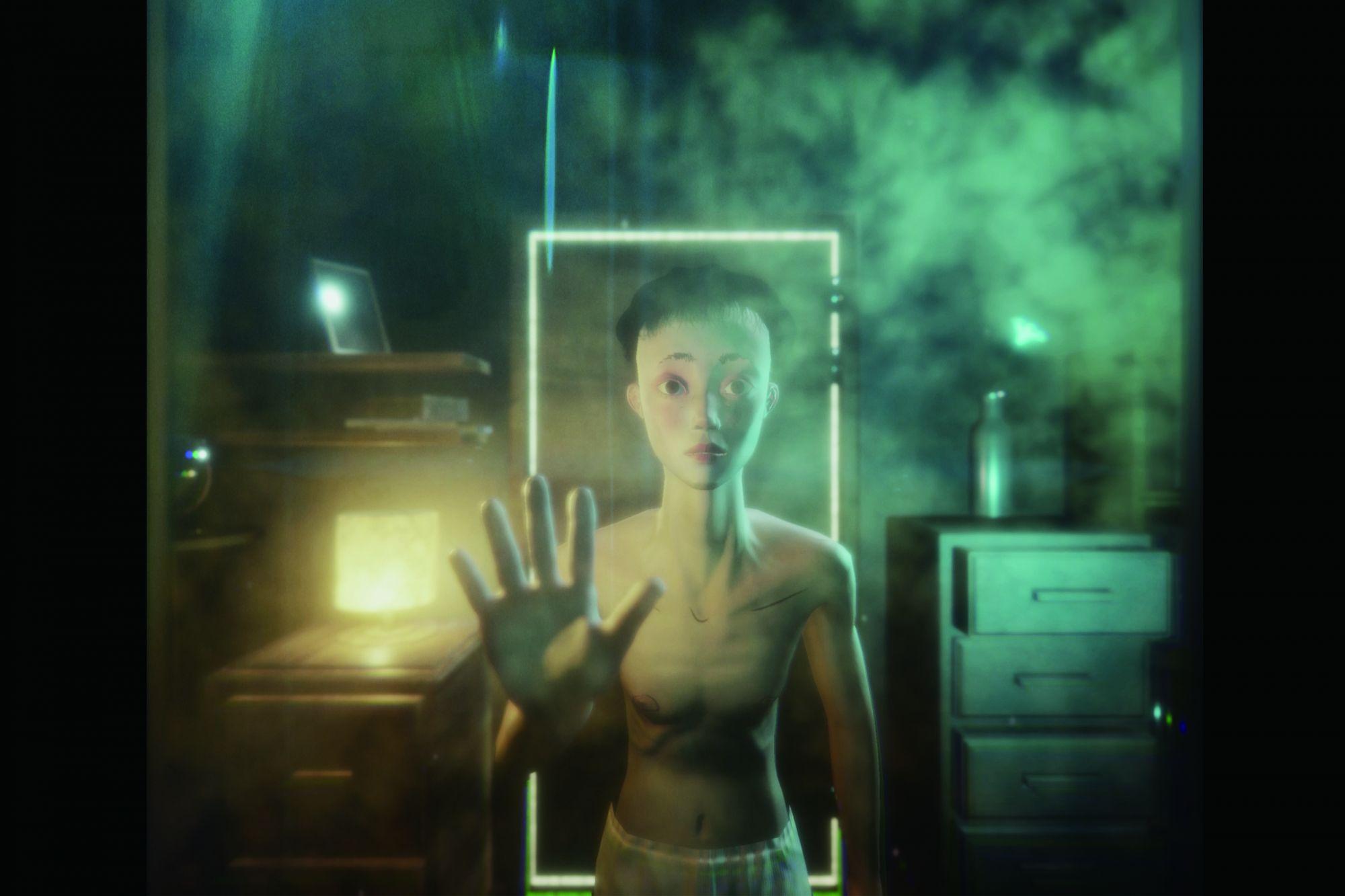 藝術家李語豪的VR動畫作品《女子》透過身歷其境的觀影體驗,探討著性別認同議題。