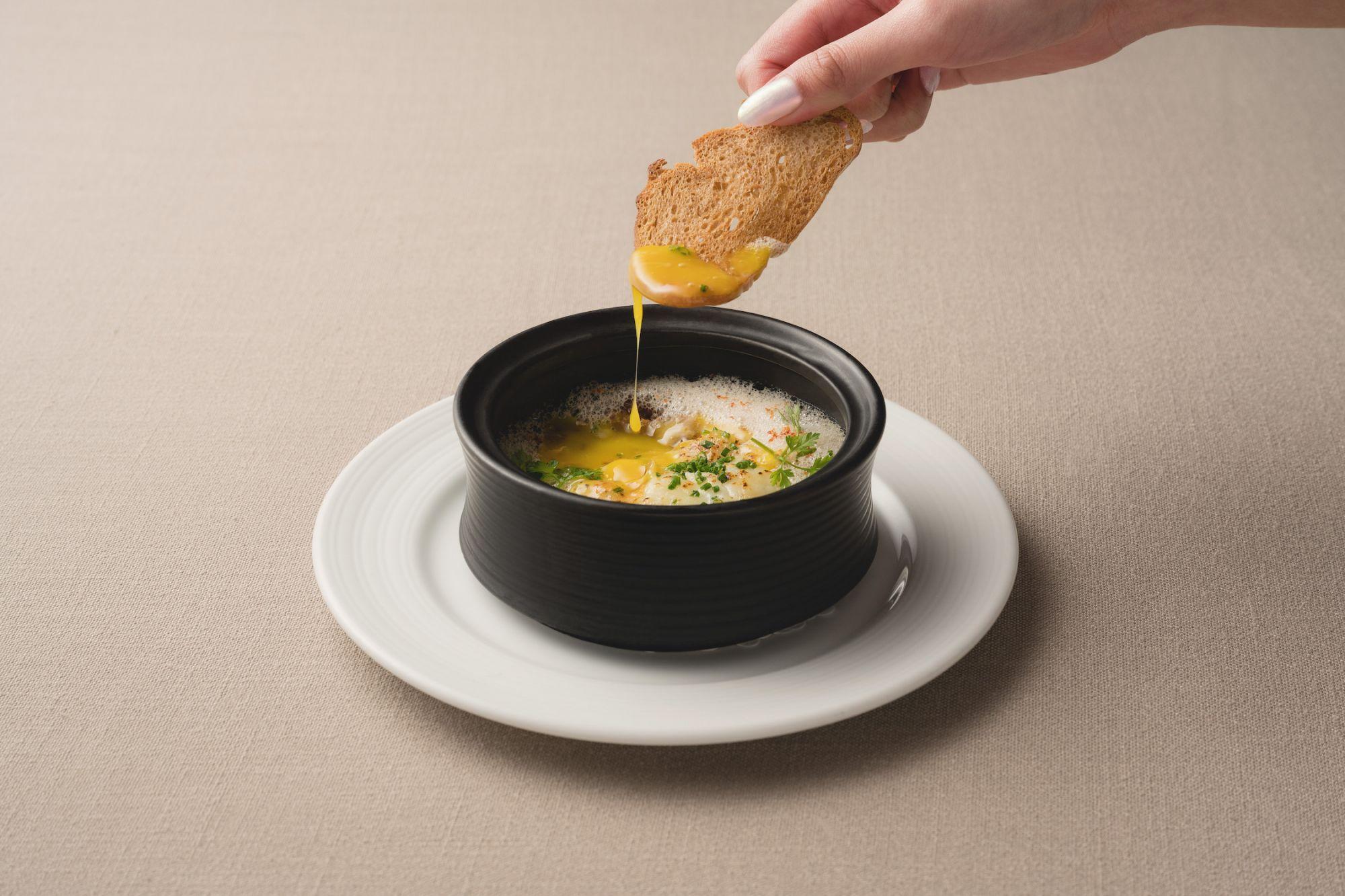 法式燉菜,油封鴨胗和溫泉蛋