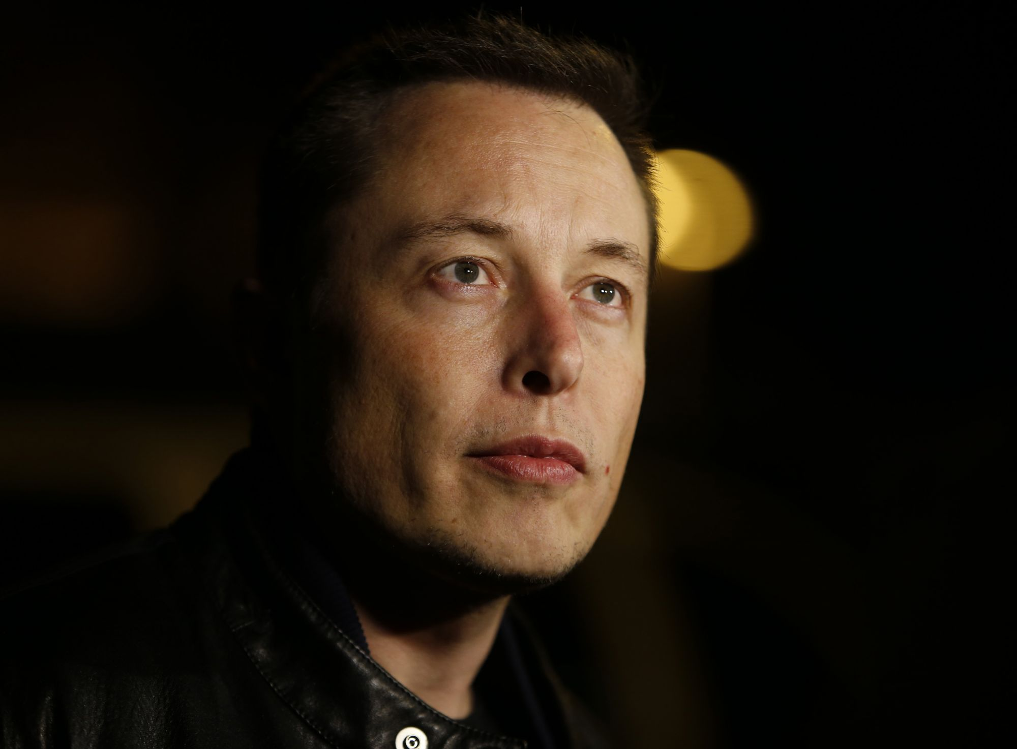 Tesla CEO Elon Musk talks to the media about the condition of the factory workers who were injured at the Tesla plant earlier in the day, outside of Santa Clara Valley Medical Center in San Jose, Calif. on Wednesday, Nov. 13, 2013.  (Nhat V. Meyer/Bay Area News Group) (Photo by MediaNews Group/Bay Area News via Getty Images)