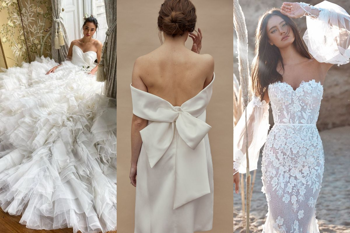 2021年5大婚紗設計趨勢:高雅露背、巨型蝴蝶結......逃離現實的盛放浪漫