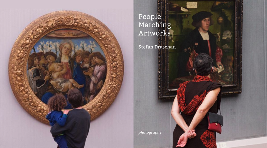 穿梭虛實之間,專注等待一個背影的恰巧之作:《People Matching Artworks》