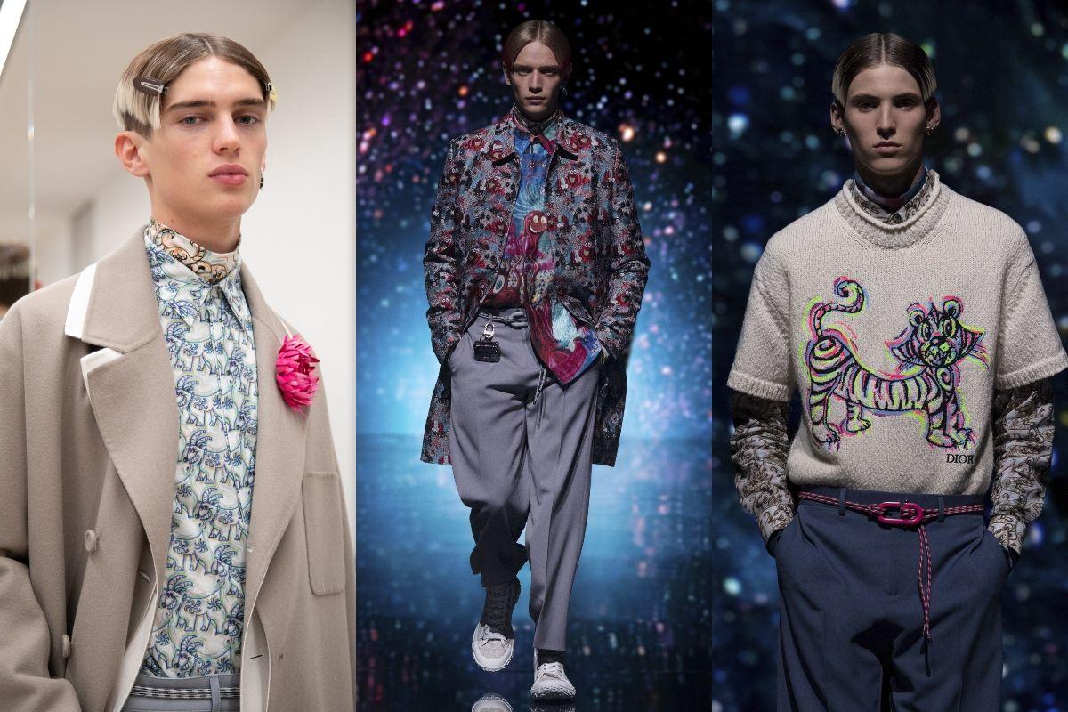 Dior 2021秋季男裝系列:聯手美國藝術家 Kenny Scharf,摩登樣貌刷新你的「中國風」印象