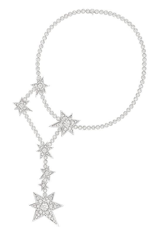 Constellation鑽石項鍊,大型款by Chanel。