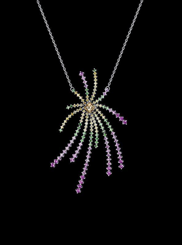 Palm Glitter項鍊by Tasaki。
