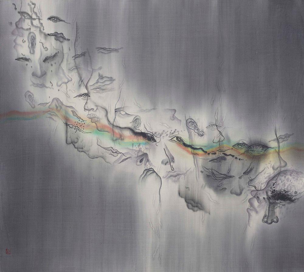 劉信義,多重的灰色,2020。(圖片提供/穎川畫廊)