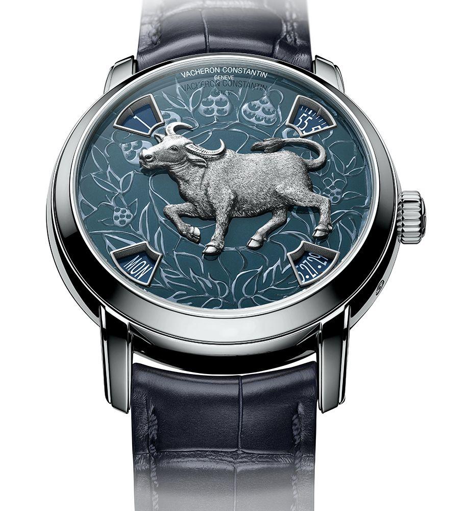 Métiers d'Art藝術大師系列The Legend of the Chinese Zodiac中國十二生肖傳奇之牛年腕錶 by Vacheron Constantin。